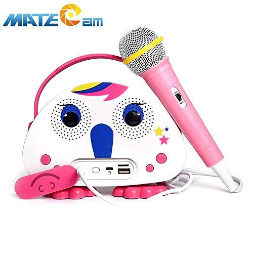 Kids Karaoke Machine with Microphone, Children's Bluetooth Karaoke Wireless Speaker Beach Wireless Cartoon Speaker for Indoor Outdoor Travel Activities Party Best Christmas Birthday Gift for Children