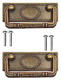 FUXXER - 2 tiradores de muebles antiguos plegables, tiradores de cajón,...