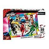 Nathan- Puzzle 30 pièces-Ladybug et Ses Amis Super-héros/Miraculous Enfant, 4005556863853