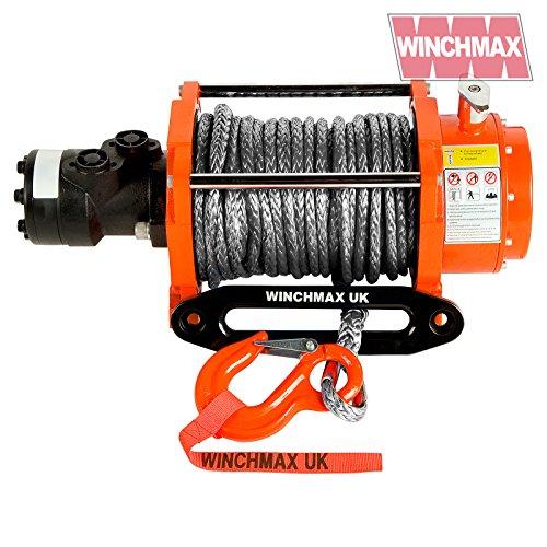 Winchmax Hydraulische Seilwinde 20.000 lb Original orange mit Dyneema – nur Winde