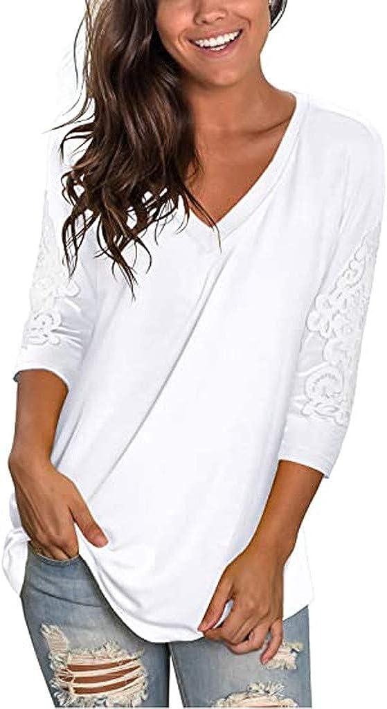 Meikosks Autumn V Neck Shirt Women's free 5 ☆ popular Patchwork 4 Lace T Sleeve 3