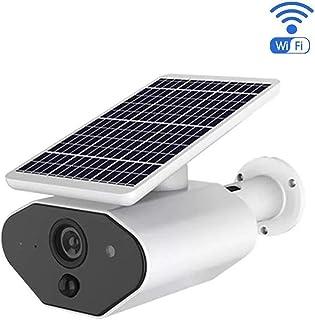 SMARSECUR® TY-L4 - Cámara de seguridad solar para exteriores wifi visión nocturna detección de movimiento batería recargable audio bidireccional IP66 compatible con Alexa y Google Echo