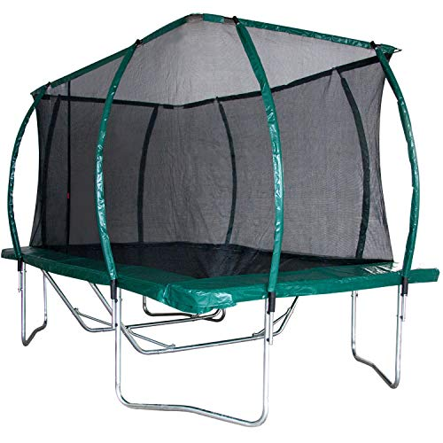 10 Foot x 15 Foot Skyhigh Oval Trampoline with Safety Enclosure. Superior and Spacious Bounce. Doesn't Pull User into Centre of Mat.