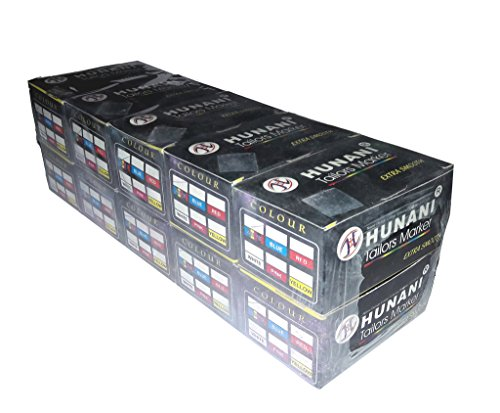 Hunani Tailors Marker Assorted (Multi Colour) Tailors Chalk,A Pack of 10 Boxes (100 Chalk Pieces) (This Chalk is Also Used for School Board)