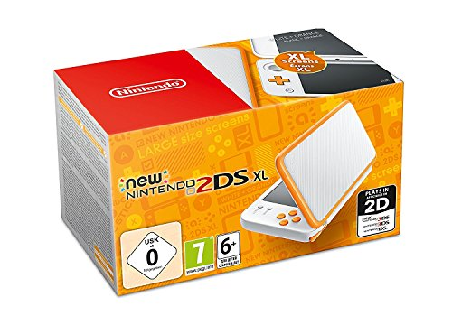 Nintendo New 2DS XL - Consola Portátil, Color Blanco y Naranja