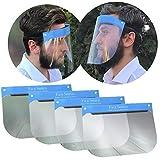 5X Visier Gesichtsschutz Schutz Helm Gesichtsschutzschild Gesichtsvisier Augenschutz Augen Spritzschutz vor Flüssigkeit Face Shield Schirm Spuckschutz (5X Visiere)