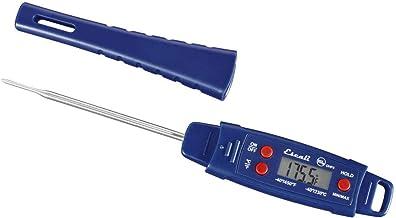 ميزان حرارة اللحوم الرقمي المتطور المقاوم للماء من إسكالي، الحد الأدنى/الحد الأقصى، عبوة من قطعة واحدة، أزرق داكن