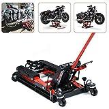 OUKANING Plataforma Elevadora Hidráulica para Motocicleta Soporte de Montaje para Moto