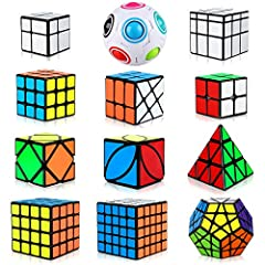 ENVIRONMENTAL MATERIAL AND BRIGHT-COLOURED STICKER: This style speed cube bundle is made of non-toxic ABS material and long lasting non-fading stickers, Eco-friendly and Ideal for kids' early cognitive development. PERFECT GIFT : This speed cube set ...