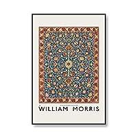 ウィリアム・モリス展覧会のポスターやプリントヴィンテージフルーツ柑橘類の花アート写真ファミリーフレームレスキャンバス絵画 5番 50x75cm