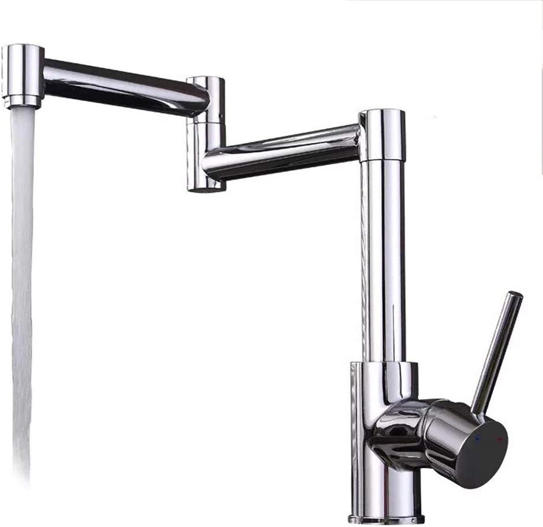 GAL Hohe Qualitt Voller Kupferner Hahn-Küchen-heier Und Kalter Gemischter 360 Grad-drehender Waschbecken-Faltbarer Hahn