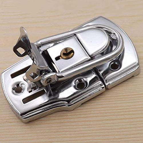1set Lock Hasp Metal Door Buckle with Padlock and Key Hasp Locks Clasp Shed for Tool Box Case Suitcase Tool