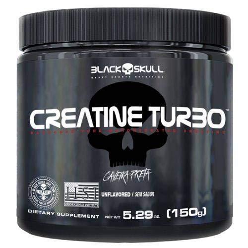 LANÇAMENTO CREATINA TURBO (150G) - BLACK SKULL PROMOÇÃO