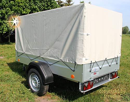 TPV Böckmann PKW Anhänger 750 kg Trailers 13 Zoll + Plane Aufbau