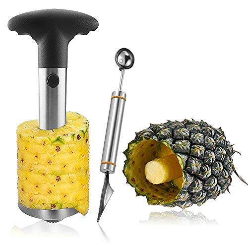 Pineapple Corer Peeler Safe Material Stainless Steel 430 Slicer Stem Remover  All in one Kitchen Gadget