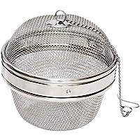 Space Home - Bola Cocción Legumbres/Garbanzos - Malla para Especias - Colador Malla Acero Inoxidable - Bola Infusora - Ø 10 cm