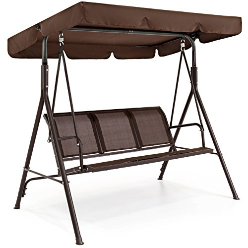 Best Choice Products 3-Seater Outdoor Steel...