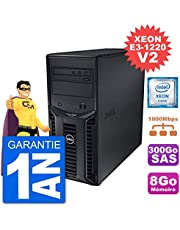 Dell PowerEdge T110 II Xeon QuadCore E3-1220 V2 - Servidor (8 GB, 300 GB, Perc H200 SAS reciclado certificado)