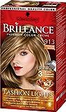 Brillance Intensiv-Color-Creme 913 Honigblond Balayage Fashion Lights, 3er Pack (3 x 113 ml)