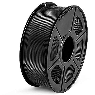 SUNLU PETG Filament 1.75mm 3D Printer Filament PETG 1kg Spool (2.2lbs), Dimensional Accuracy of /- 0.02mm PETG Black