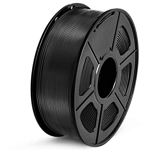 SUNLU Filamento PETG 1.75, Stampante 3D PETG Filamento 1kg Spool Tolleranza del diametro +/- 0,02 mm, PETG Nero
