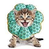 PJDDP Regolabile Collare del Gatto di Recupero Cat Cono Dopo Chirurgia, Elisabettiano Collari Protettivi Cono, Bordo Sfumato Anti-Bite Lick Capo La Guarigione della Ferita per Animali Gatto Cani,8,SM