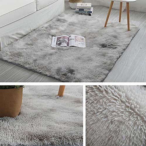 HOUSWEETY Alfombra suave de felpa, gruesa y esponjosa, de piel de oveja sintética, para dormitorio, sala de estar, decoración de mesita de noche, sofá o suelo alfombras rectangulares