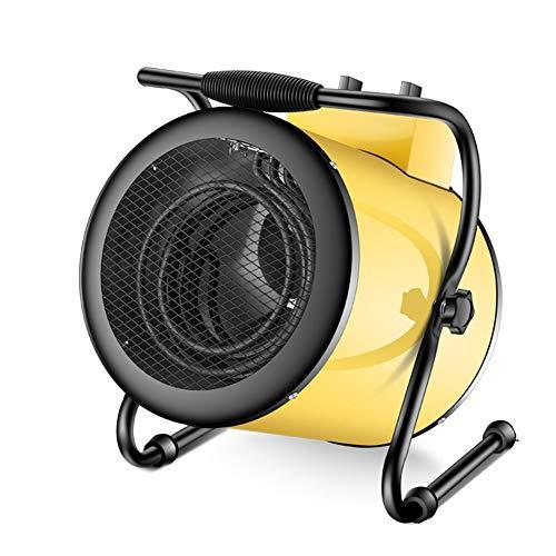 JJHOME PTC Calentador de Ventilador Industrial 3000W / 5000W Calentador eléctrico Ventilador, Aire Acondicionado Regulable,Amarillo,5000W