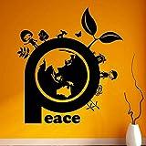 AGiuoo Erde Wandaufkleber Gute Welt Greenpeace Familie