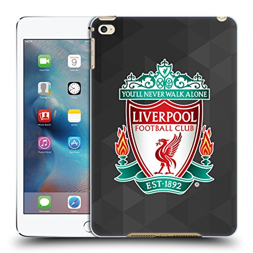 Official Liverpool Football Club Black Geometric 1 Crest 1 Hard Back Case Compatible for Apple iPad mini 4