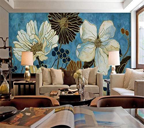 Pioenrozen klaprozen bloemenschilderij behang woonkamer slaapkamer fotobehang moderne wanddecoratie fotobehang voor muren 3 D 300 * 210 cm
