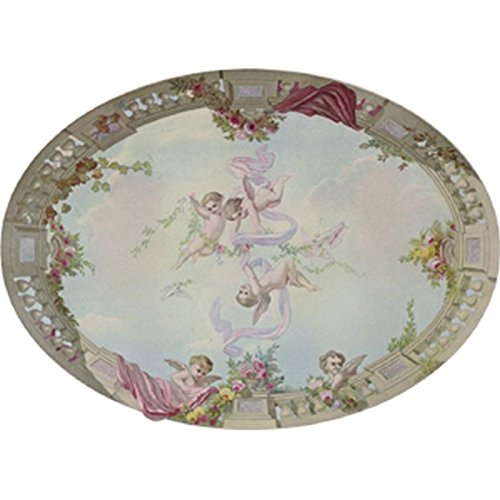 Dollhouse Wallpaper Ceiling Mural Sky, Cupid, & Roses