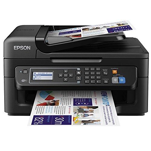 Epson - Stampante Workforce compact 4 in 1 con Wi-Fi, ideale per casa e ufficio, colore nero nero Black WF-2630