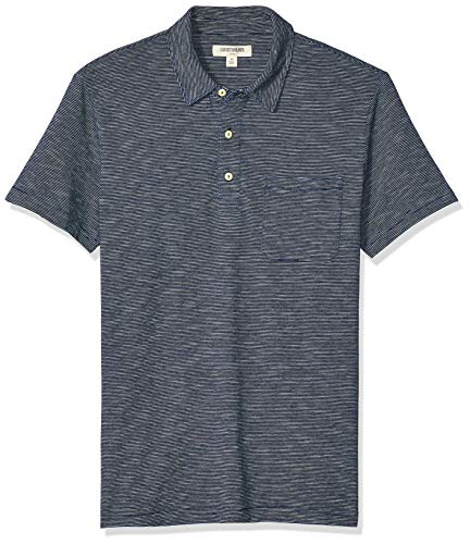 Goodthreads Indigo polo-shirts, Dark Feeder Stripe, US S (EU S)