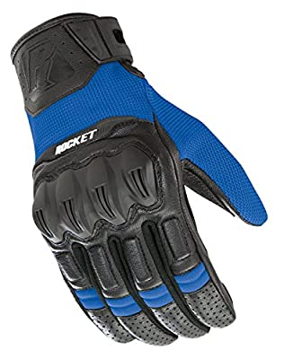 Joe Rocket Men's Phoenix 5.1 Hybrid Motorcycle Glove (Blue/Black, Large)