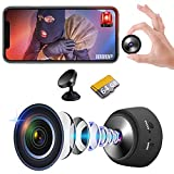 Mini Spy Camera Hidden WiFi Wireless Small Video Camera, Full HD 1080P Nanny Cam Night Vision Secret Surveillance Cameras, Compact Indoor / Outdoor Video Recorder with Audio (with 64G SD Card)
