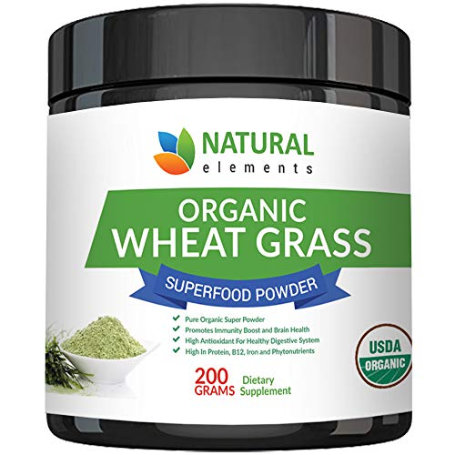 Wheatgrass Powder - USDA Certified Organic Wheat Grass Powder That Is Rich In Essential Amino Acids, Chlorophyll, Antioxidants, Fatty Acids, Minerals & Vitamins - US Grown - Vegan & Non-GMO Superfoods