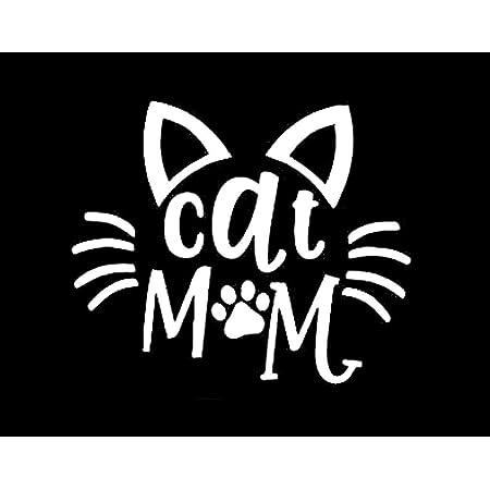 9 X cat feline Verre de vin//Jar decal Autocollants Fête Décoration Murale//Téléphone//Home #3