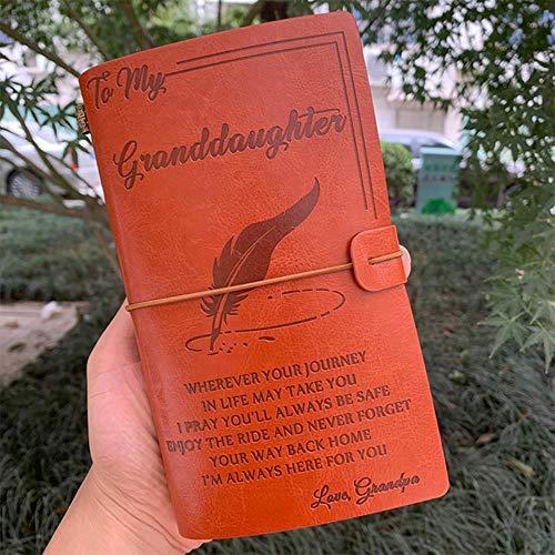 A6 Regalo regalo di cancelleria per genitori creativi per bambini Diario di viaggio Notebook Diario di scuola classico per bendaggi Forniture Diario di proiettile, Nonno d'amore