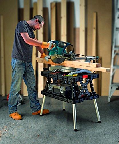 Keter 17182239  Werkzeugbank Master Pro Serie Folding Work Table,  Kunststoff, schwarz / gelb - 4