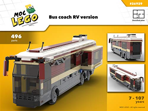 Bus coach RV version (Instruction Only): MOC LEGO (English Edition)
