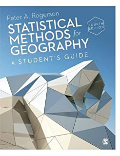 Statistical Methods for Geography: A Student's Guide (1446295729) | Amazon price tracker / tracking, Amazon price history charts, Amazon price watches, Amazon price drop alerts