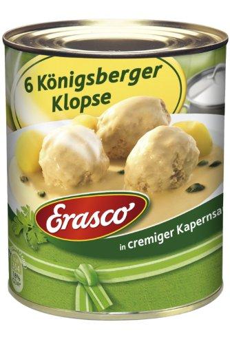 Erasco 6 Königsberger Klopse i. Kapernsauce , 6er Pack (6 x 800 g Dose)