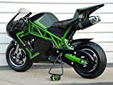 Mini Pocket Bike 50RR Gas Powered 2-Stroke 50cc (Green/Black)