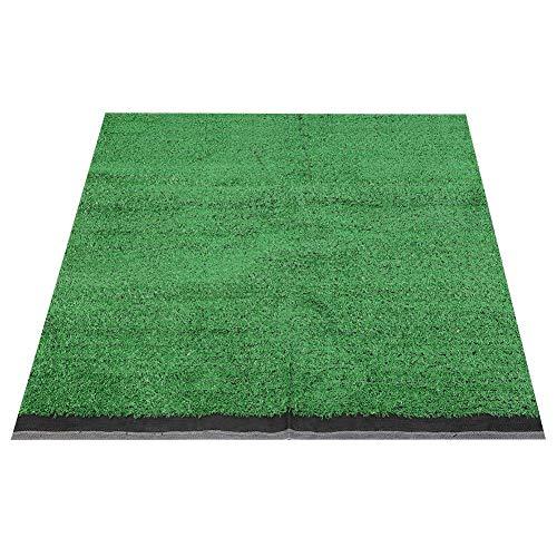 OKBY Cesped Artificial Jardin Alfombras - Césped De Simulación 10 Mm Grueso Alfombra 1x1m Paisaje Jardín(Verde Claro)