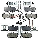 Pastillas de freno + contacto de advertencia + accesorios delantero + trasero NB Parts Germany 10042523