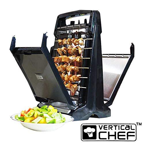Vertical Chef Barbecue verticale elettrico con griglia e spiedini per Cottura BBQ senza fumo