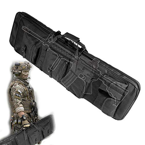 TBDLG Home Gewehr Weichkoffer, multifunktionale tragbare gewehrtasche, FüR Langwaffen Outdoor Tactical Carbine Wasser- Und Staubdicht Jagd SchießEn,120CM