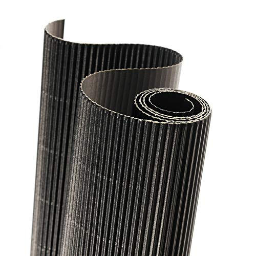 Rollo 50x70 cm, Canson Cartón Ondulado 300g, Negro