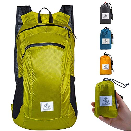4Monster Ultra Lightweight Daypack Small Hiking Rucksack Foldable Backpack Outdoor Water Resistance Packable Daypack for Hiking Travel Camping Business